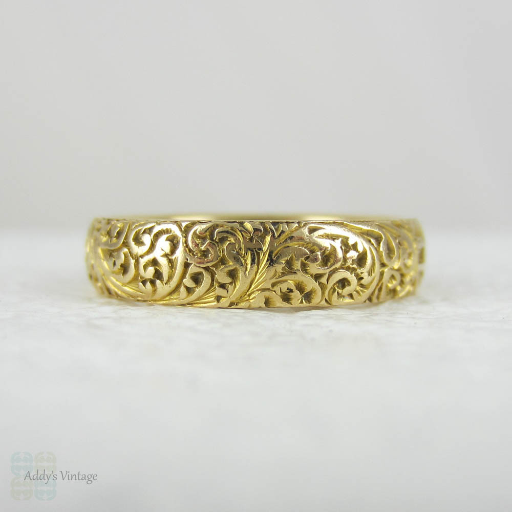 erie vintage rings s band wedding basin men gold antique