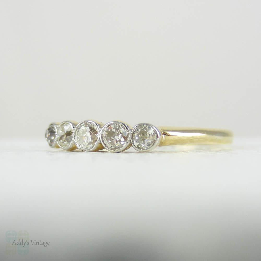 Stone Bezel Diamond Ring