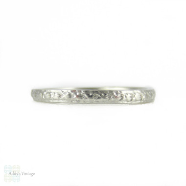concept wedding antique band pattern ring silversmack rings floral with vintage platinum bands modern by engraved