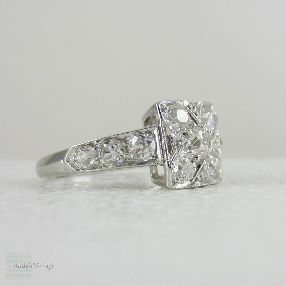 Deposit Antique Diamond Platinum Engagement Ring Old