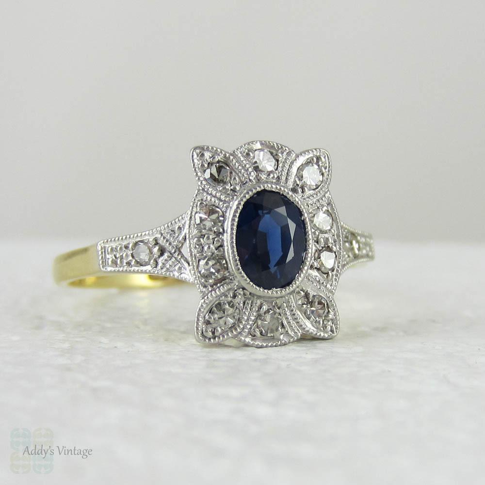 Sapphire Diamond Studs