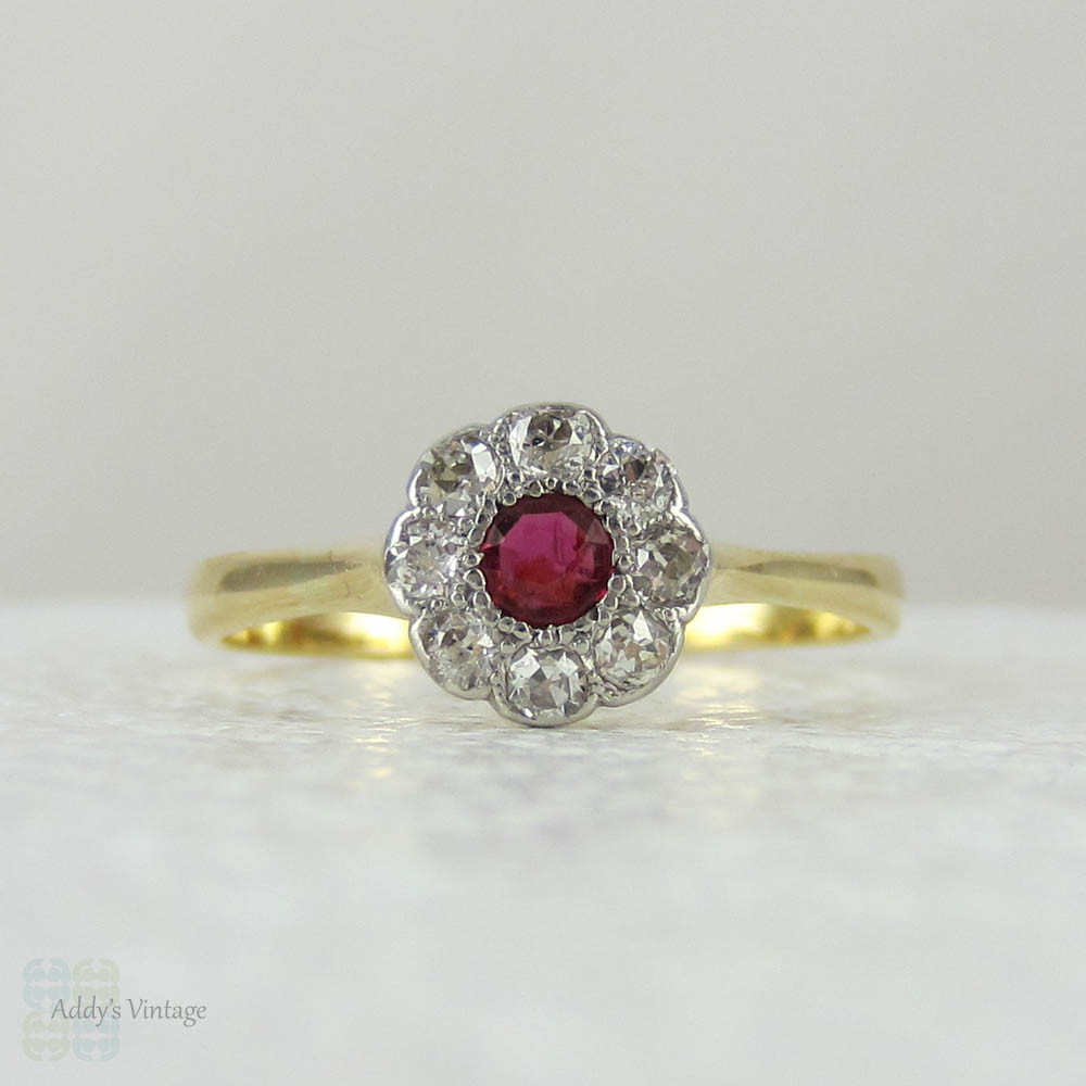 three diamond antique ruby engagement and victorian ring rings stone