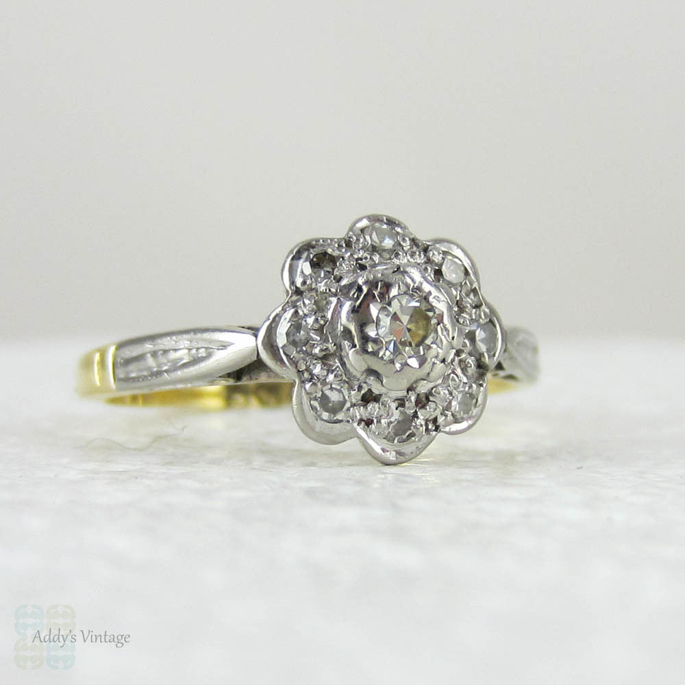 die flower ring gold to rings flowery rose vintage a engagement for