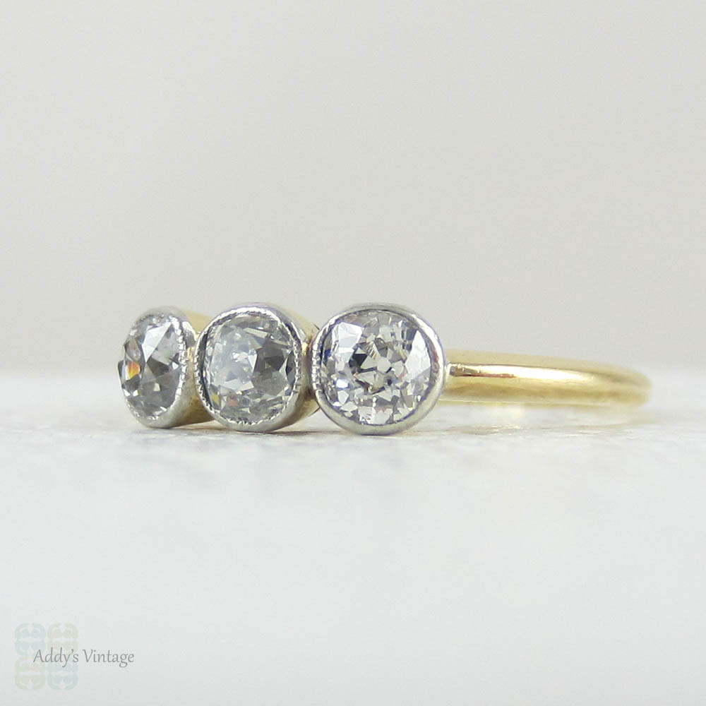 Old Mine Cut Diamond Engagement Ring Uk