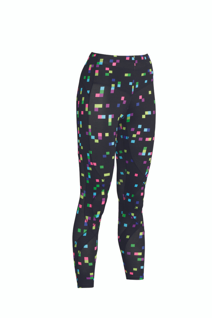 CW-X Women's Stabilyx Tights PRINT - Black-Square