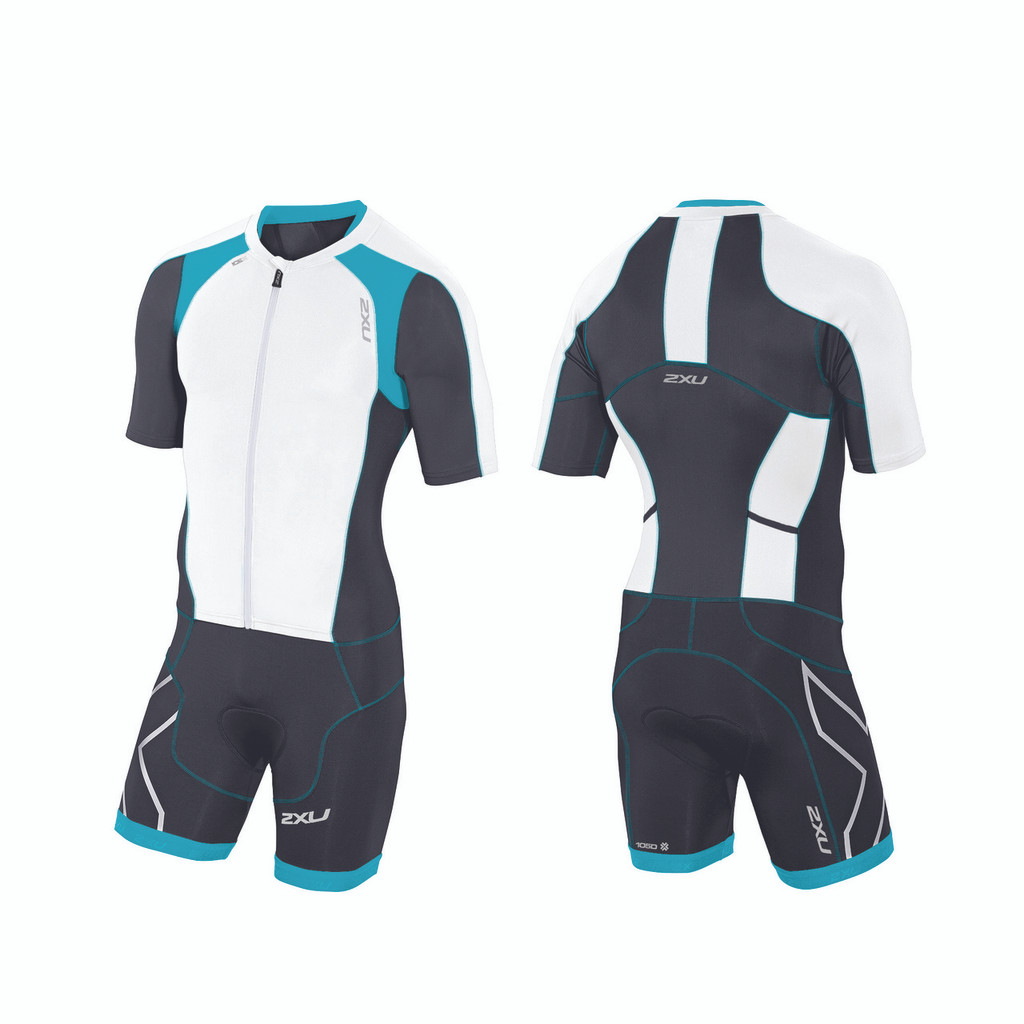 2XU - Men's Compression Sleeved Full Zip Trisuit - Small Only