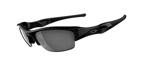 Oakley Sports Performance - Polarised Flak Jacket Sunglasses - Jet Black Frame - Black Polarised Iridium Lens 12-900