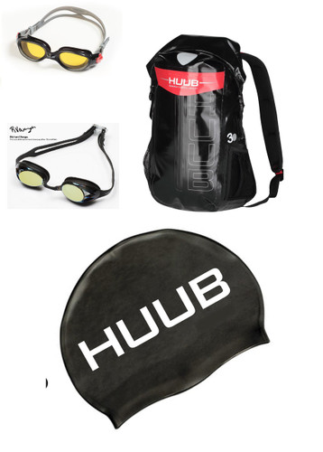 HUUB Bundle -   Varga Goggle + Dry Bag + Buoy + Silicone Swim Cap