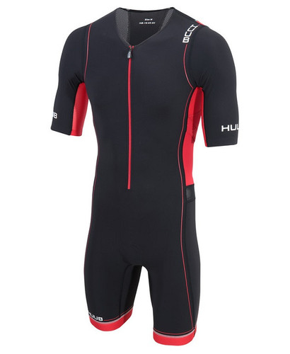 HUUB - Men's Core Sleeved Long Course Trisuit - Black/Red