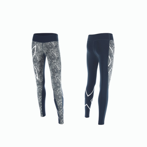 2XU - Pattern Mid-Rise Compression Tights - Women's
