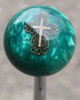 Pearl Green Filagree Cross Shift Knob
