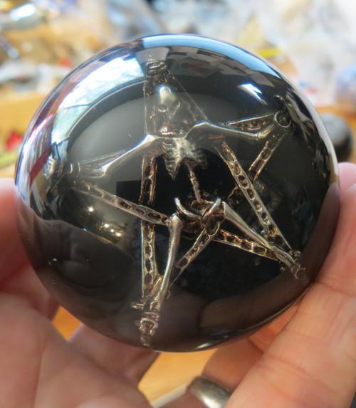 Gothic Ancient Skeleton Skull Pentagram Star Shift Knob