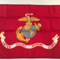 United States Marine Corps Flag: Semper Fidelis (Always Faithful)