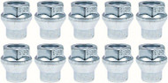 """12MM - 1.50 R15 Lug Nut with 1/4"""" Shank - For Use With Spacers - Kit of 10"""