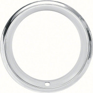 """14"""" Stainless 2-7/8"""" Deep Step Lip Rally Wheel Trim Ring Reproduction Wheels"""
