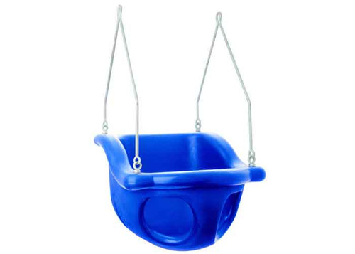 This full bucket rotationally molded plastic infant seat comes in an array of colors.