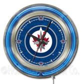 Winnipeg Jets Neon Clock