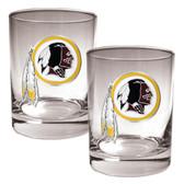 Washington Redskins 2pc Rocks Glass Set