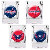 Washington Capitals 4pc Square Shot Glass Set