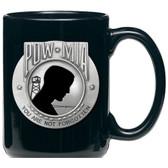 United States P.O.W. M.I.A. Black Coffee Mug Set