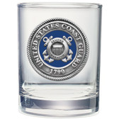 United States Coast Guard Double Old Fashioned Glass Set