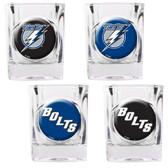 Tampa Bay Lightning 4pc Square Shot Glass Set