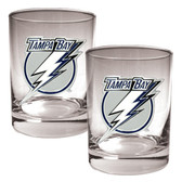 Tampa Bay Lightning 2pc Rocks Glass Set - Primary Logo