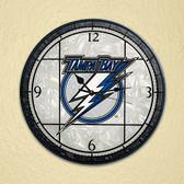 "Tampa Bay Lightning 12"" Art Glass Clock"