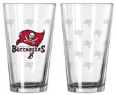 Tampa Bay Buccaneers Satin Etch Pint Glass Set