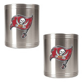 Tampa Bay Buccaneers 2pc Stainless Steel Can Holder Set