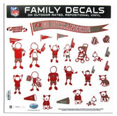 """Tampa Bay Buccaneers 11""""x11"""" Family Decal Sheet"""