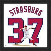 Stephen Strasburg Washington Nationals 20x20 Framed Uniframe Jersey Photo