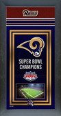 St. Louis Rams Framed Championship Banner