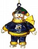 "St. Louis Rams 2 3/4"" Crystal Snowman Ornament"