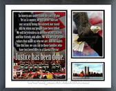 """Speech """"Justice has been done"""" Milestones & Memories Framed Photo"""