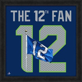 """Seattle Seahawks 12th Fan UNIFRAME 20"""" x 20"""" Framed photographic representation of the team's jersey 20X20 Framed Uniframe Jersey Photo"""