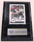 Scott Kazmir  Tampa Bay Rays Card Plaque