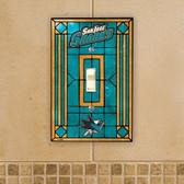 San Jose Sharks Art Glass Switch Cover