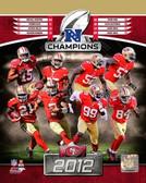 San Francisco 49ers 2012 NFC Champions 8x10 Photo