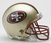 San Francisco 49ers 1996-2008 Throwback Riddell Mini Football Helmet