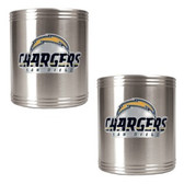 San Diego Chargers 2pc Stainless Steel Can Holder Set