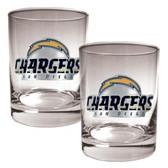 San Diego Chargers 2pc Rocks Glass Set