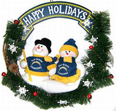 "San Diego Chargers 20"" Team Snowman Wreath"