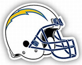 """San Diego Chargers 12"""" Helmet (White) Car Magnet"""