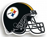 "Pittsburgh Steelers 12"" Helmet Car Magnet"