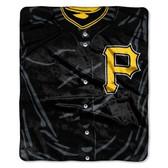 """Pittsburgh Pirates 50""""x60"""" Royal Plush Raschel Throw Blanket - Jersey Design"""