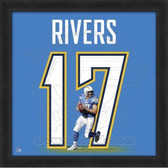 Philip Rivers San Diego Chargers 20x20 Framed Uniframe Jersey Photo