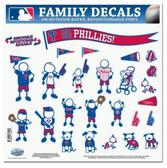 "Philadelphia Phillies 11""x11"" Family Decal Sheet"