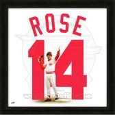 Pete Rose Cincinnati Reds 20x20 Framed Uniframe Jersey Photo