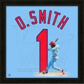 Ozzie Smith St. Louis Cardinals 20x20 Framed Uniframe Jersey Photo
